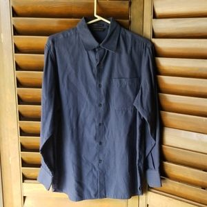 *3 for $15* Dark Blue Long Sleeve Button by Axist